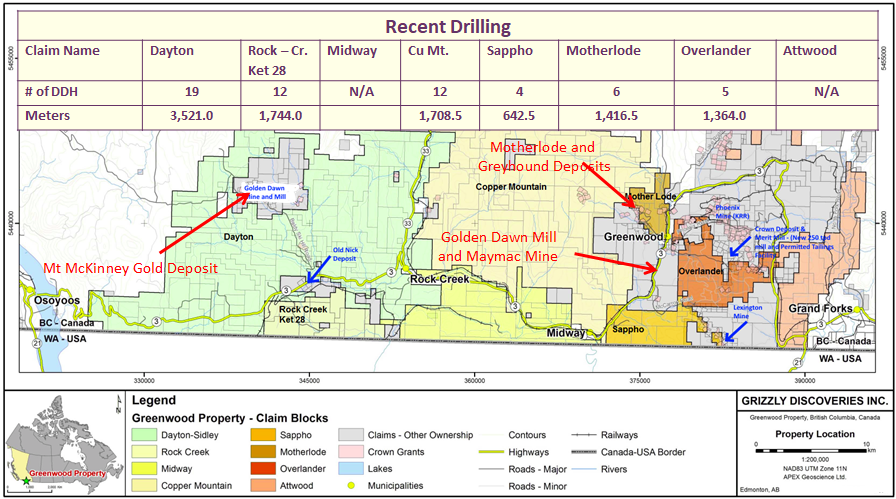 Greenwood map and drilling